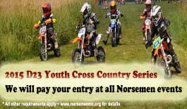 Free entry for D23 Youth Cross Country Series riders at all Norsemen events in 2015